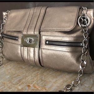 Lanvin metallic sac hero soft leather crossbody